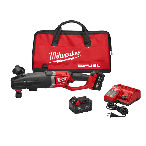 Milwaukee 2711-22 M18 FUEL Lithium-Ion SUPER HAWG 1/2 in. Right Angle Drill with QUIK-LOK Kit