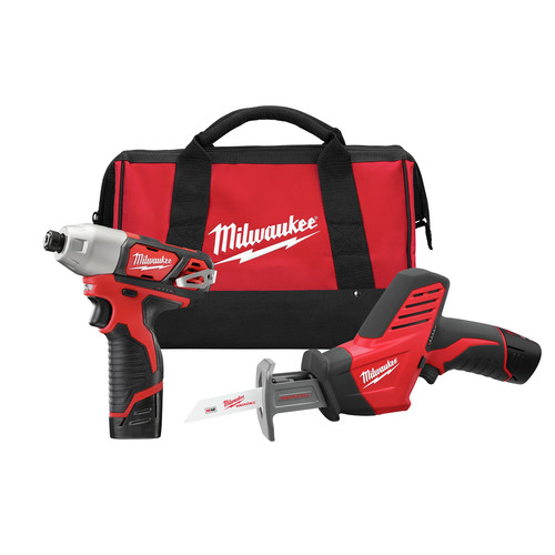 Milwaukee 2491-22 M12 12V Cordless Lithium-Ion 2-Tool Combo Kit