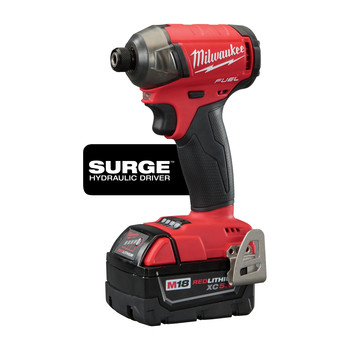 Milwaukee 2760-22 M18 FUEL SURGE 5.0 Ah 1/4 in. Hex Hydraulic Impact Driver Kit image number 1