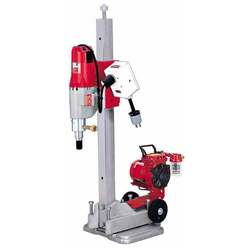 Milwaukee 4115-22 Diamond Coring Rig with Small Base Stand & Coring Motor