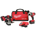 Milwaukee 2898-22 M18 FUEL Hammer Drill/Driver and Metal Cutting Circular Saw Combo Kit