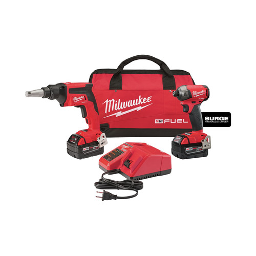 Milwaukee 2896-22 M18 FUEL 18V 5.0 Ah Cordless Lithium-Ion 2-Tool Combo Kit