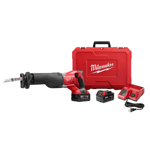 Milwaukee 2621-22 M18 SAWZALL Li-Ion Reciprocating Saw with 2 Batteries