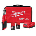 Milwaukee 2566-22 M12 FUEL Brushless Lithium-Ion 1/4 in. Cordless High Speed Ratchet Kit (2 Ah) image number 0