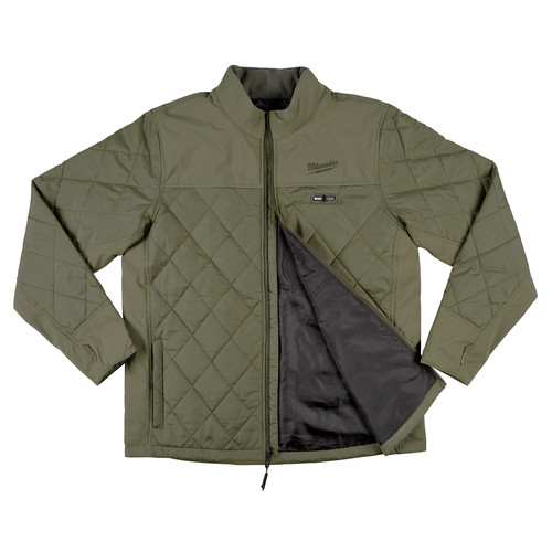 Milwaukee 203OG-20L M12 Heated AXIS Jacket (Jacket Only) - Olive Green, Large image number 3
