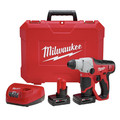 Milwaukee 2412-22XC M12 Lithium-Ion 1/2 in. SDS Plus Rotary Hammer Kit with 2 XC Batteries