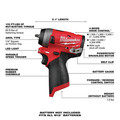 Milwaukee 2552-20 M12 FUEL Stubby 1/4 in. Impact Wrench (Tool Only) image number 5