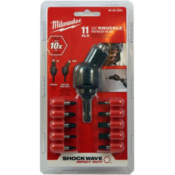 Milwaukee 48-32-2301 11-Piece Shockwave Knuckle Pivot Adapter Set