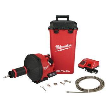 Milwaukee 2772B-21XC M18 FUEL Drain Snake with CABLE DRIVE Kit image number 0