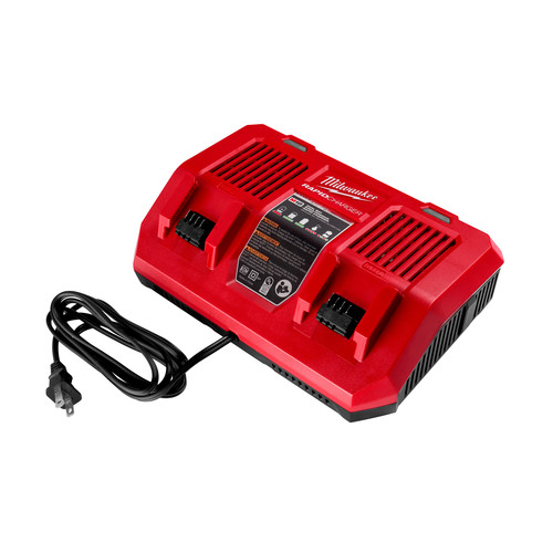 Milwaukee 48-59-1802 M18 Dual Bay Simultaneous Rapid Lithium-Ion Charger image number 0