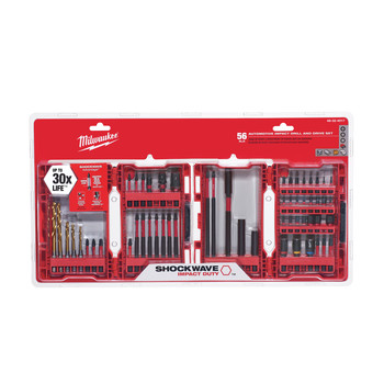 Milwaukee 48-32-4017 56 Pc SHOCKWAVE Impact Duty Drill and Drive Set image number 0