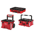 Milwaukee 48-22-8426-8425-8450 PACKOUT 3pc Kit Rolling Tool Box, Large Tool Box, and Tool Case with Foam Insert image number 0