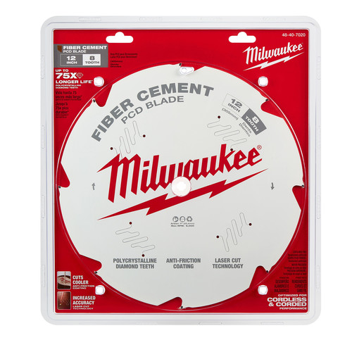 Milwaukee 48-40-7020 12 in. PCD/Fiber Cement Circular Saw Blade image number 0