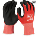 Milwaukee 48-22-8903B 12-Piece Cut Level 1 Nitrile Dipped Gloves - XL image number 0