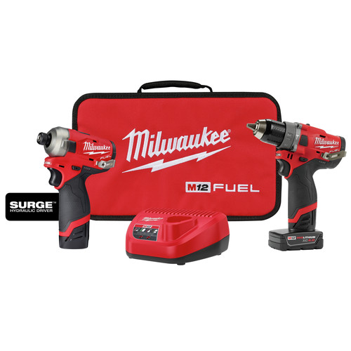 Milwaukee 2582-22 M12 FUEL Hydraulic Driver / Drill Driver Combo Kit image number 0