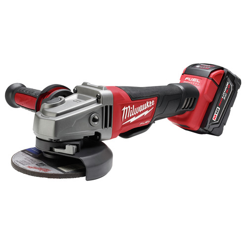 Milwaukee 2780-22 M18 FUEL 4-1/2 in. - 5 in. Paddle Switch Grinder with 2 REDLITHIUM Batteries image number 1