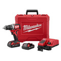 Milwaukee 2701-22CT M18 Lithium-Ion Compact Brushless 1/2 in. Cordless Drill Driver Kit (2 Ah) image number 0