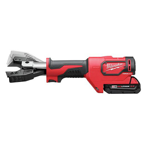 Milwaukee 2678-22O M18 Force Logic 18V 2.0 Ah Cordless Lithium-Ion 6T Utility Crimper Kit with D3 Groves and Fixed O Die image number 6
