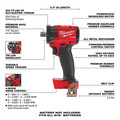 Milwaukee 2855P-20 M18 FUEL Lithium-Ion Brushless Compact 1/2 in. Cordless Impact Wrench with Pin Detent (Tool Only) image number 2