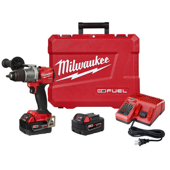Milwaukee 2806-22 M18 FUEL Lithium-Ion 1/2 in. Cordless Hammer Drill Kit with ONE-KEY (5 Ah) image number 0