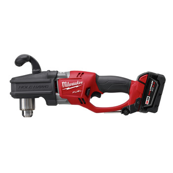 Milwaukee 2708-22 M18 FUEL HOLE HAWG Lithium-Ion 1/2 in. Cordless Right Angle Drill Kit with QUIK-LOK (5 Ah) image number 2