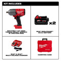 Milwaukee 2767-22 M18 FUEL High Torque 1/2 in. Impact Wrench Kit with Friction Ring image number 6