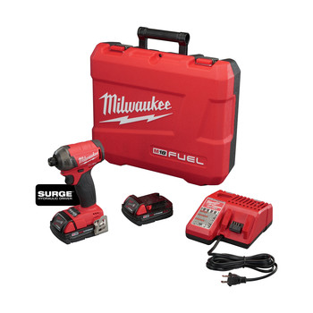 Milwaukee 2760-22CT M18 FUEL SURGE 2.0 Ah 1/4 in. Hex Hydraulic Impact Driver Kit