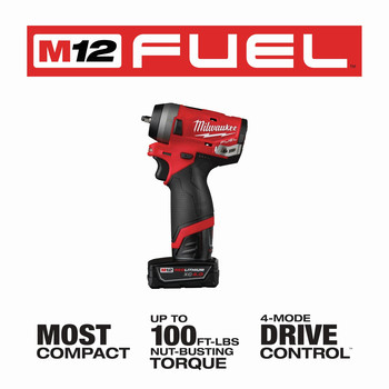 Milwaukee 2552-22 M12 FUEL Stubby 1/4 in. Impact Wrench Kit image number 8