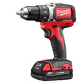 Factory Reconditioned Milwaukee 2701-82CT M18 Lithium-Ion Brushless Compact 1/2 in. Cordless Drill Driver Kit (2 Ah) image number 1