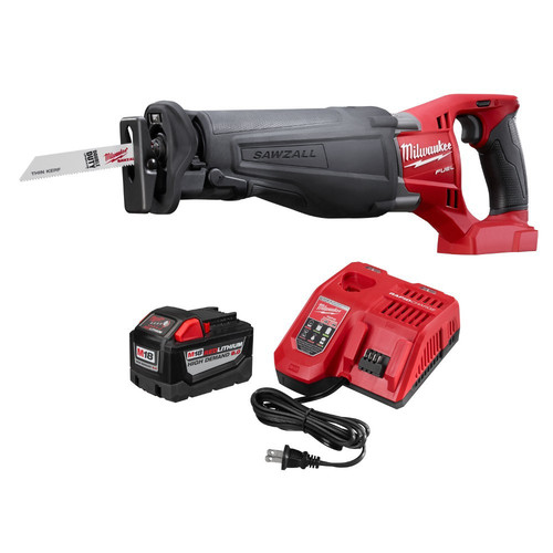 Milwaukee 48-59-1890PS M18 FUEL 18-Volt Lithium-Ion Cordless SAWZALL Reciprocating Saw with M18 9.0Ah Starter Kit
