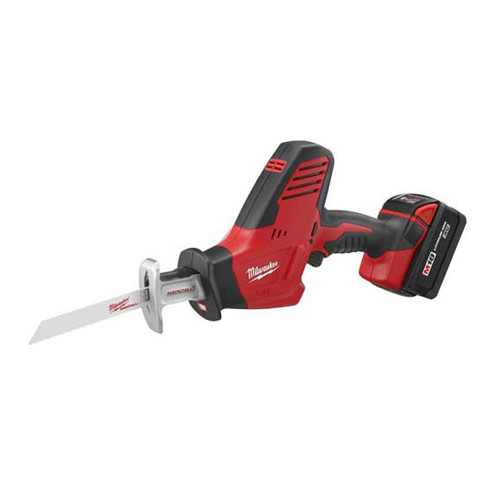 Factory Reconditioned Milwaukee 2625-81 M18 18V Cordless Lithium-Ion Hackzall Reciprocating Saw with High Capacity Lithium-Ion Battery