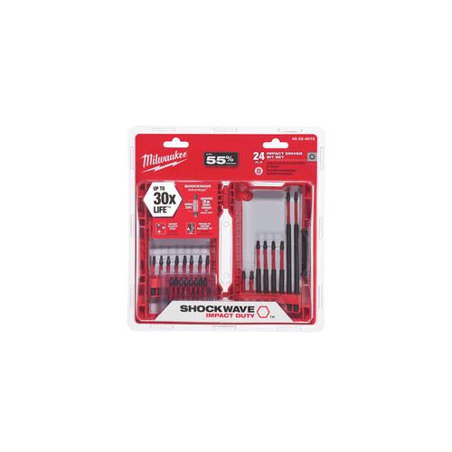 Milwaukee 48-32-4019 SHOCKWAVE 24 Pc. Impact Duty Driver Bit Set image number 0