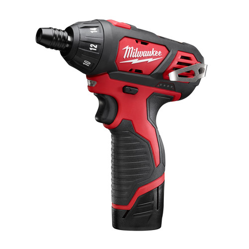 Milwaukee 2401-22 M12 Lithium-Ion Sub-Compact Screwdriver Kit with 2 Batteries image number 1