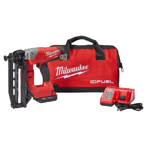 Factory Reconditioned Milwaukee 2741-81CT M18 FUEL Cordless Lithium-Ion 16-Gauge Brushless Straight Finish Nailer Kit