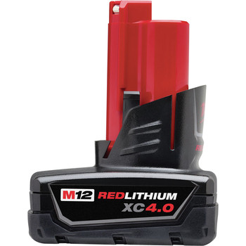 Milwaukee 48-11-2440 M12 REDLITHIUM XC 4 Ah Lithium-Ion Extended Capacity Battery