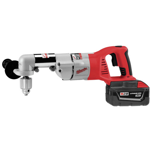Milwaukee 0721 21 M28 Lithium Ion 1 2 In Right Angle Drill With Case