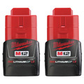 Milwaukee 48-11-2411 M12 12V 1.5 Ah Compact REDLITHIUM Lithium-Ion Battery (2-Pack)