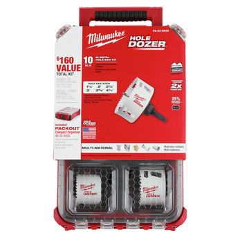 Milwaukee 49-22-5606 10-Piece Hole Dozer Hole Saw Kit with PACKOUT Compact Organizer image number 1