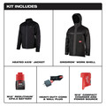 Milwaukee 255B-21XL M12 3-in-1 Heated AXIS Jacket Kit with Gridiron Workshell - XL image number 1
