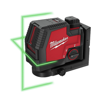 Milwaukee 3521-21 REDLITHIUM USB Rechargeable Green Cross Line Laser