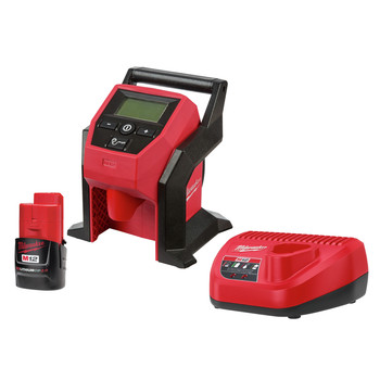 Milwaukee 2475-21CP M12 Compact Inflator Kit (2 Ah)