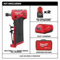 Milwaukee 2485-22 M12 FUEL Lithium-Ion Right Angle Die Grinder Kit (2 Ah) image number 1