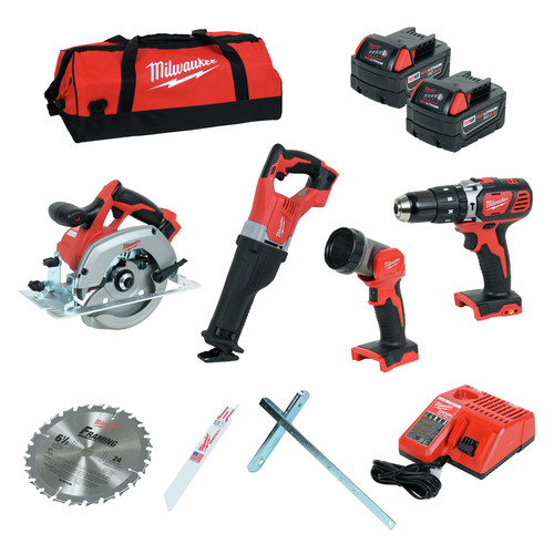 Milwaukee 2694-24 M18 Lithium-Ion 4-Tool Combo Kit