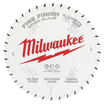 Milwaukee 48-40-0524 5-3/8 in. 36T Fine Finish Circular Saw Blade image number 0
