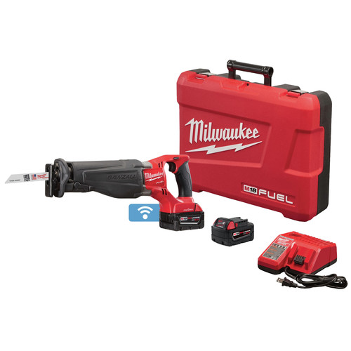 Milwaukee 2721-22 M18 Fuel XC5.0 Ah Cordless Lithium-Ion SAWZALL Reciprocating Saw Kit with ONE-KEY