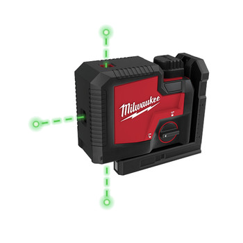 Milwaukee 3510-21 REDLITHIUM USB Rechargeable Green 3-Point Laser
