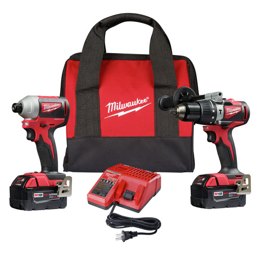 Milwaukee 2893-22 M18 Brushless Hammer Drill / Impact Driver Combo Kit