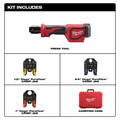 Milwaukee 2674-22P M18 18V 2.0 Ah Short Throw Press Tool Kit with Viega PureFlow Jaws image number 1