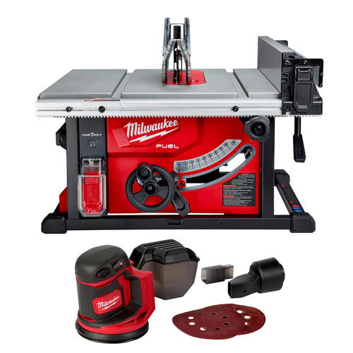 Milwaukee 2736-2648-CPO M18 FUEL 8-1/4 in. Table Saw with One-Key (Tool Only) plus M18 Random Orbit Sander (Tool Only) image number 0