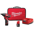 Milwaukee 2401-22 M12 12V Cordless Lithium-Ion Sub-Compact Screwdriver Kit with 2 Batteries